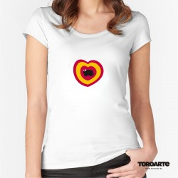 Camiseta Chica Toro Corazón